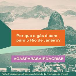 imagem Corcovado de fundo e indagação representando os benefícios da nova lei do gás para o estado do Rio de Janeiro