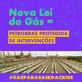 imagem de industrias e descrição de que na nova lei do gás a Petrobrás está protegida de intervenções