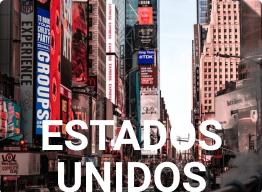 imagem de uma cidade e a palavra ESTADOS UNIDOS representando o calendário mei para os EUA