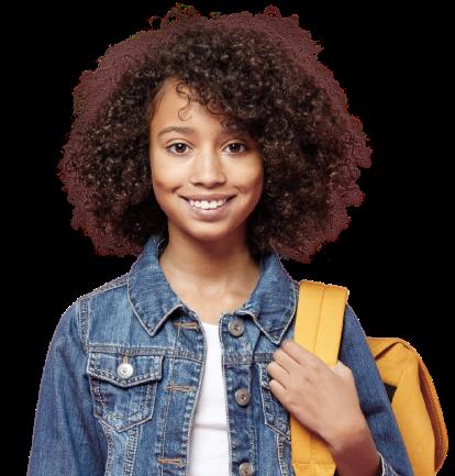 imagem ilustrativa de uma estudante negra