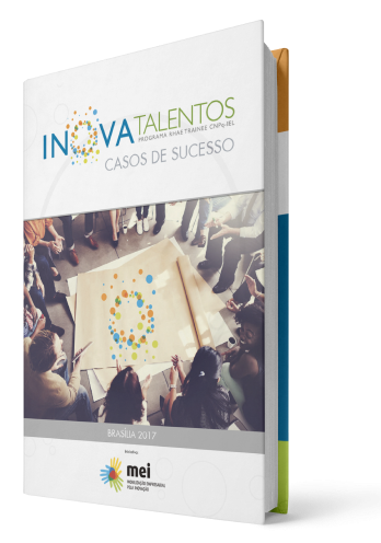 imagem do livro de casos de sucesso do inova talentos representando o download do livro