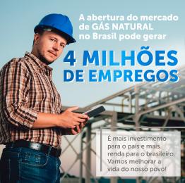 imagem de um trabalhador representando a abertuda do mercado do gás natural que pode gerar 4 milhões de empregos