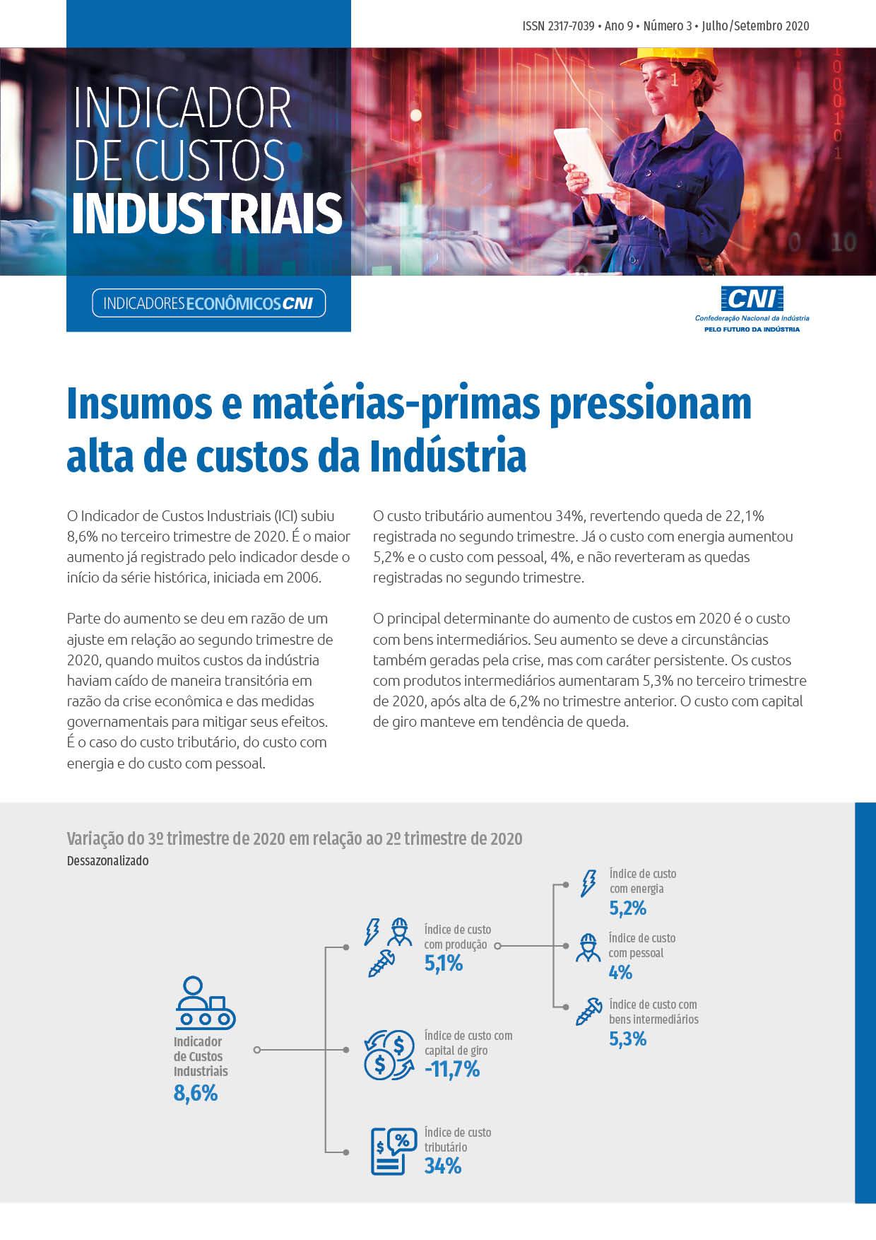 Indicador de Custos Industriais