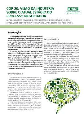 COP-20 - Visão da Indústria sobre o Atual Estágio do Processo Negociador