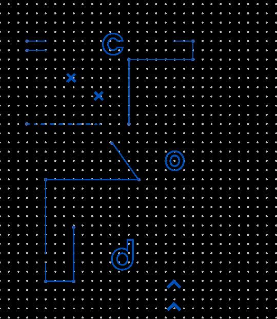 Elemento gráficos da identidade visual do COD