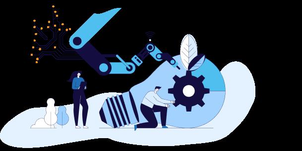 imagem de um operador operando uma máquina representando ideias e tendências de mercado