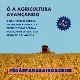 imagem de um campo representando o avanço na agricultura pois o gás natural produz fertilizantes
