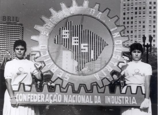 Foto histórica do SESI das décadas de 40 ou 50