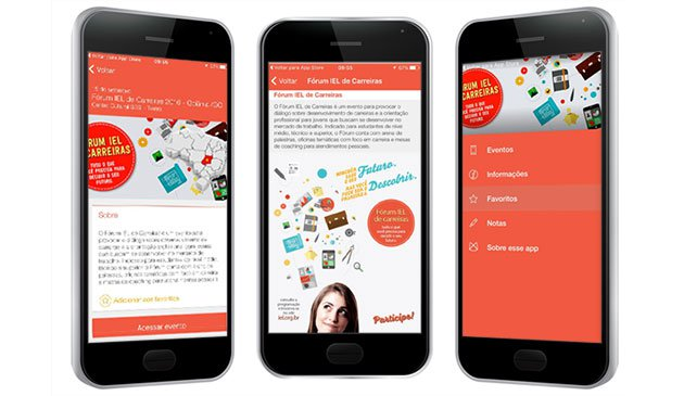 Aplicativo oferece informações sobre o evento e transmissão ao vivo para iOS e Android