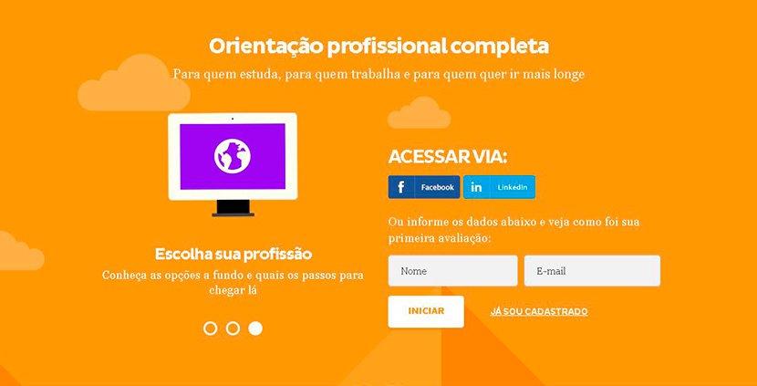 Tela de login da plataforma Mundo SENAI