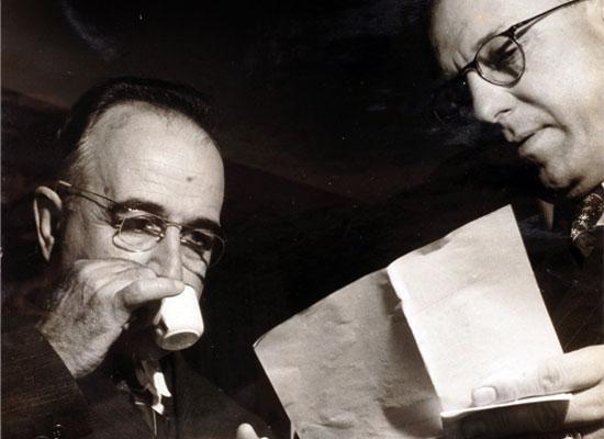 Presidente Getúlio Vargas e o Presidente da CNI Euvaldo Lodi