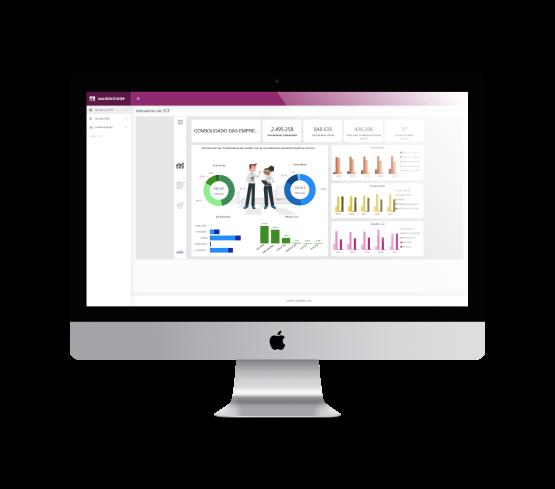 imagem de um monitor apresentando um painel