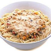Espaguete ao molho de berinjela