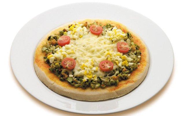 Pizza de talos de brócolis