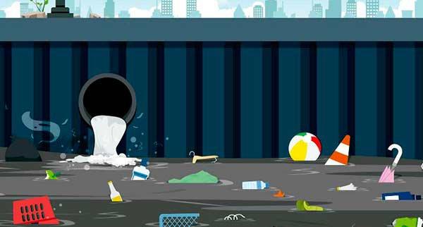 imagem de um esgoto representando necessidade de saneamento
