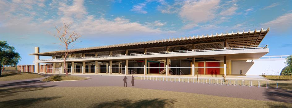 imagem da construção do sesi lab
