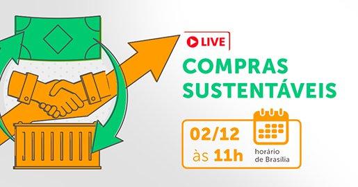 Identidade visual da live Compras sustentáveis