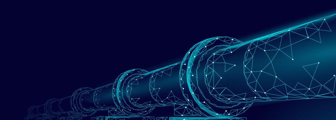 imagem de um cano de gás representando novas tecnologias