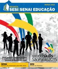 Revista SESI SENAI Educação - Capa de MARÇO/2015