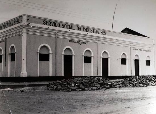 Fachada da Agência de Aracati do Departamento Regional do SESI no Ceará