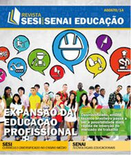 Revista SESI SENAI Educação - Capa de AGOSTO/2014