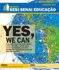 Revista SESI SENAI Educação - Capa de FEVEREIRO/2015