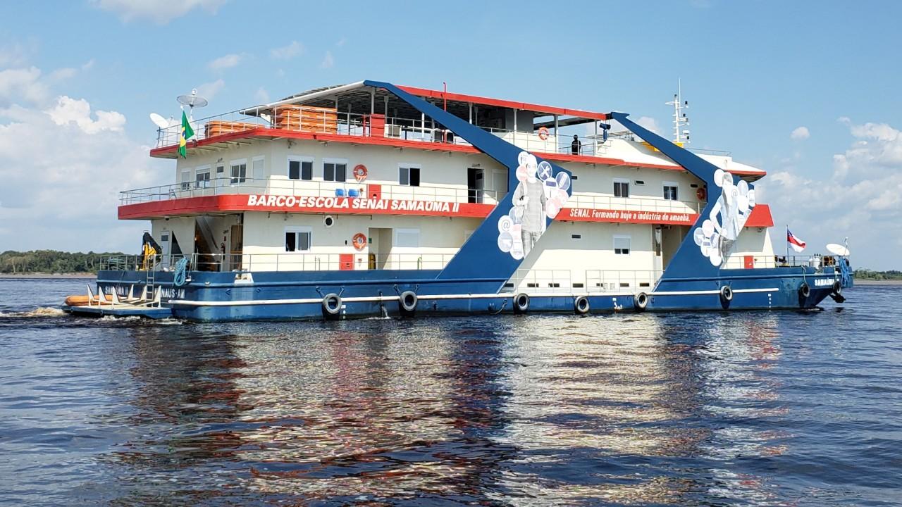 VÍDEO: Barco-escola do SENAI completa 40 anos. Vem aí uma reportagem especial sobre o Samaúma
