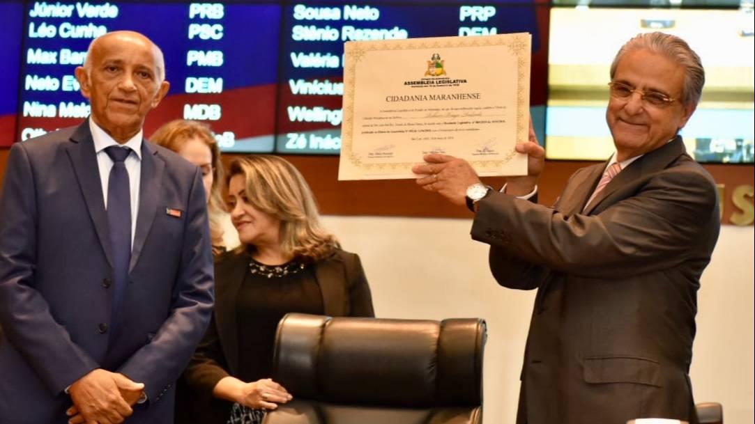 Presidente da CNI recebe título de cidadão maranhense da Assembleia Legislativa do estado