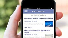 Aplicativo da coalizão empresarial B20 reúne informações, prioridades e agenda dos países do G20