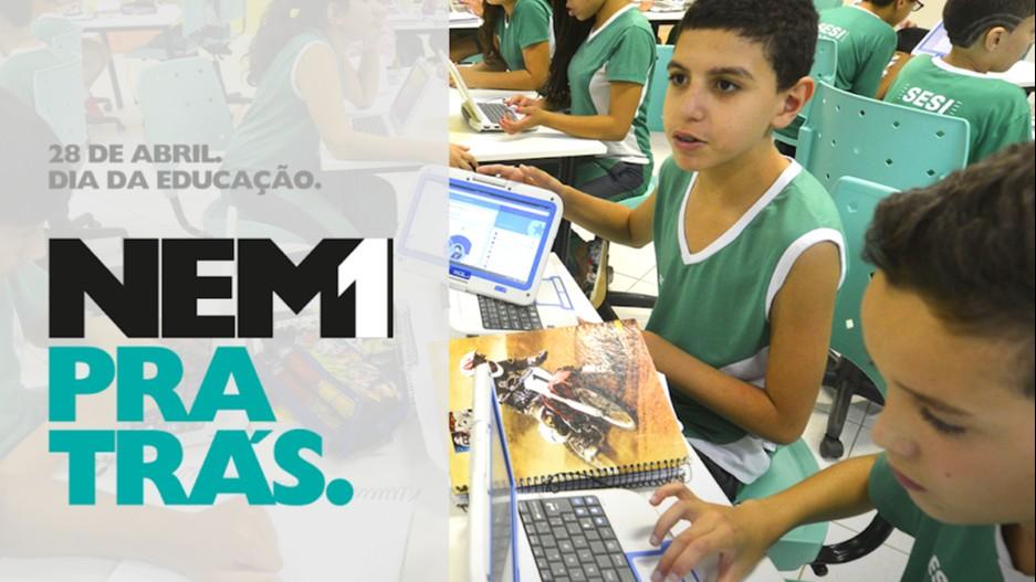 SENAI e SESI participam da campanha #Nem1PraTras