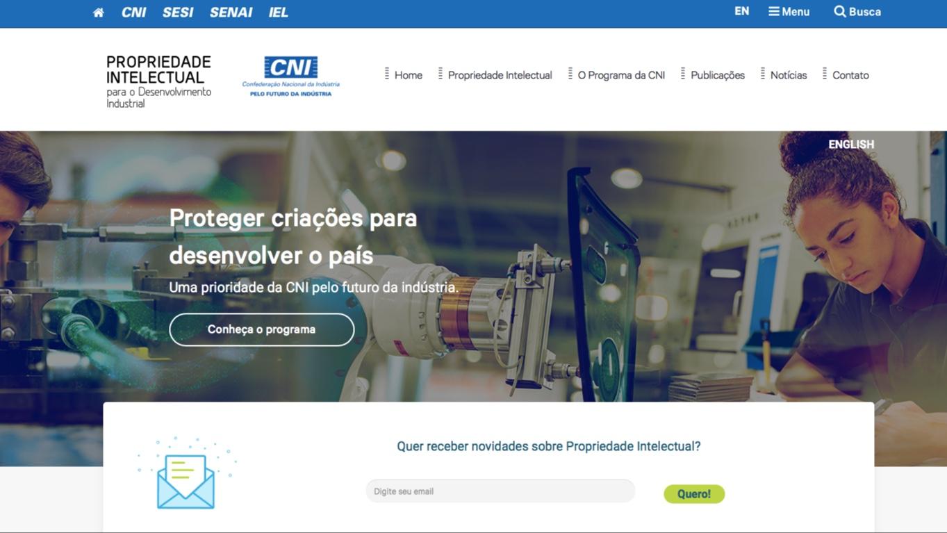 Conheça o novo site de Propriedade Intelectual da CNI