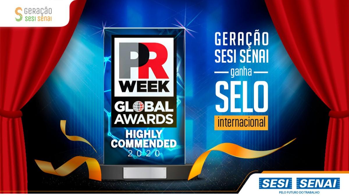 App Geração SESI SENAI ganha selo de destaque em premiação internacional