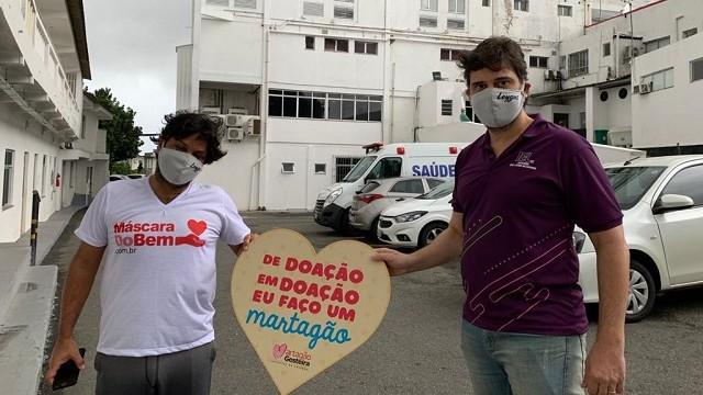 Empresas da Bahia doam máscaras de proteção facial e cestas básicas