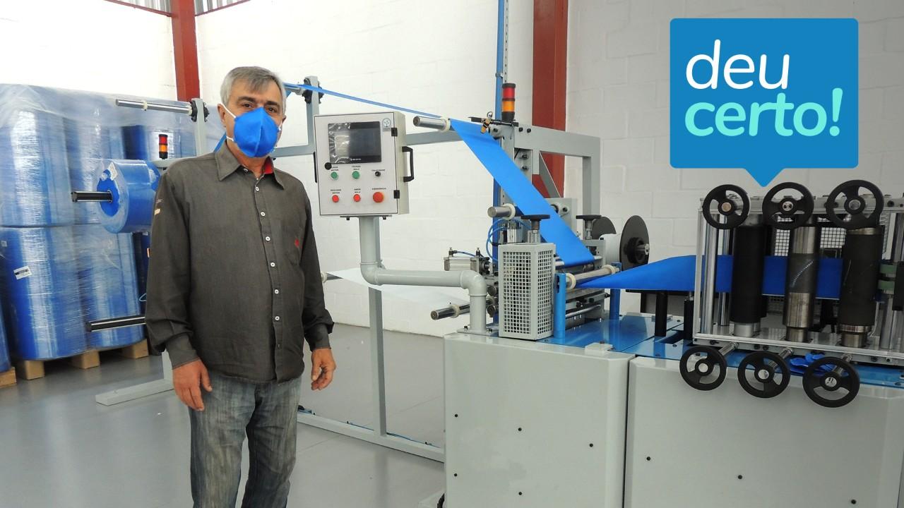 Empresa projeta e constrói máquina para fabricação de máscara-respirador em 40 dias