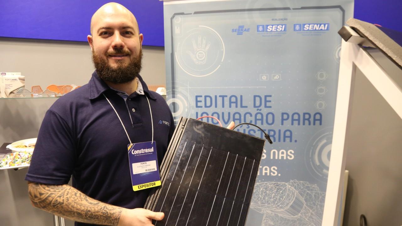 Empresa gaúcha e SENAI desenvolvem telha fotovoltaica