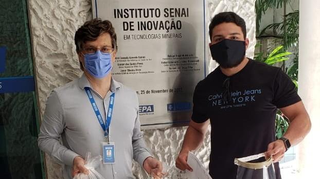 FIEPA entrega segundo lote de protetores faciais para profissionais da saúde
