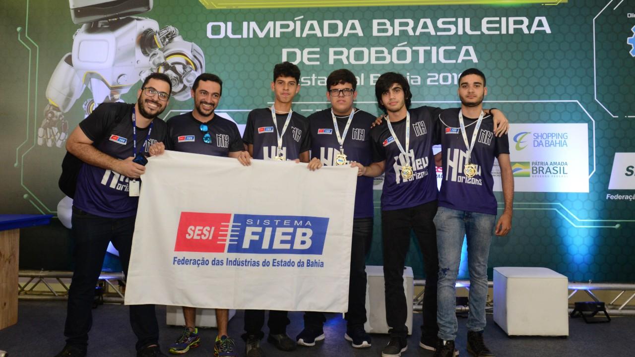 Estudantes do SESI Bahia garantem vaga na etapa nacional da Olimpíada Brasileira de Robótica