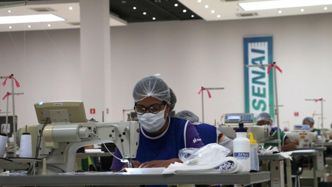 SENAI vai confeccionar 1 milhão de máscaras em Mato Grosso