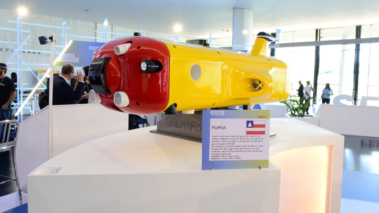 Exposição no Congresso Nacional destaca produtos inovadores desenvolvidos no SESI e no SENAI