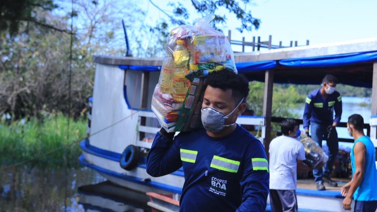 Indústria doa cestas básicas para comunidades do Pará