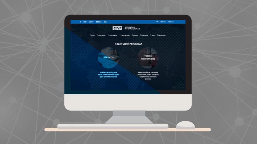 CNI lança site com ações e serviços para internacionalizar empresas