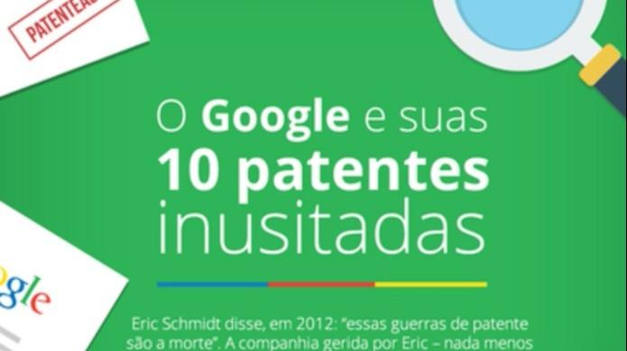 Conheça 10 patentes mais curiosas do Google