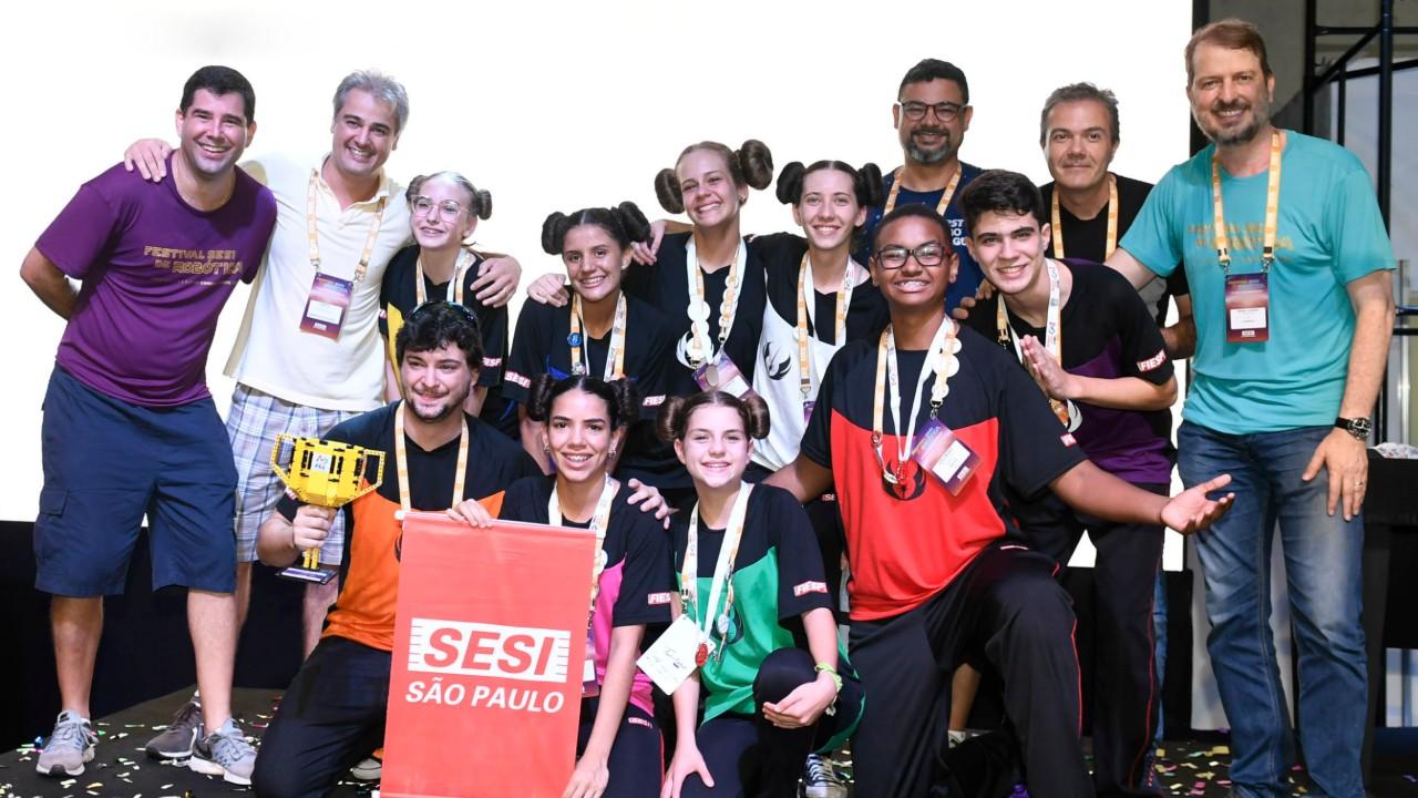 Veja quem são os campeões do Festival SESI de Robótica 2019
