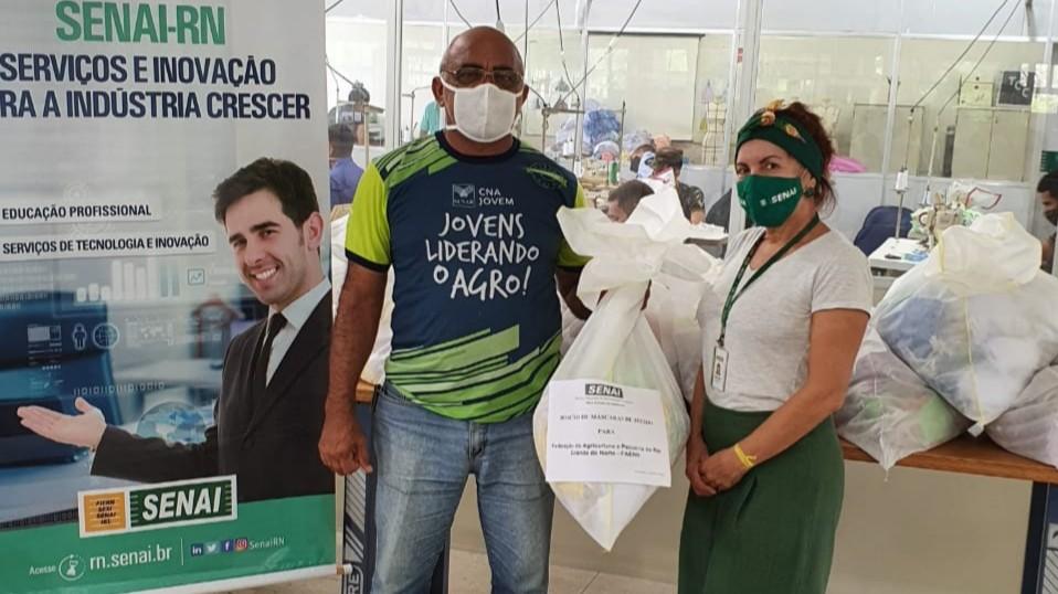 SENAI do Rio Grande do Norte entrega 5 mil máscaras de proteção