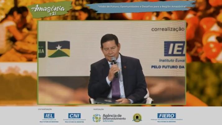 Hamilton Mourão e presidente da CNI debatem desenvolvimento sustentável da Amazônia