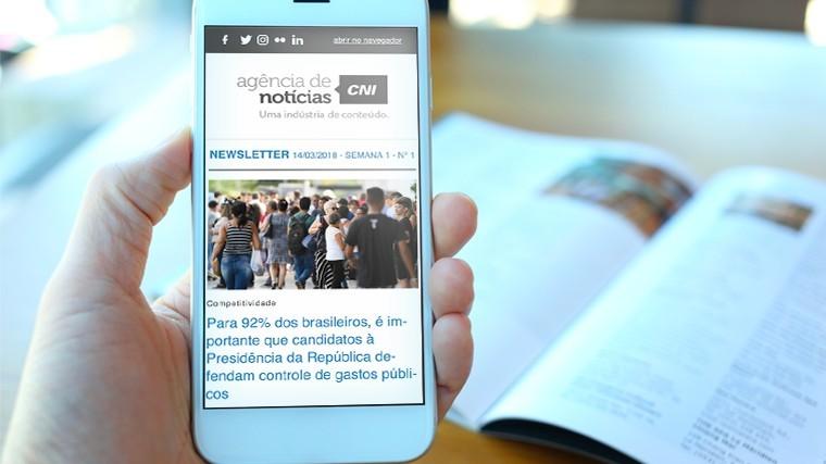 Assine a newsletter da Agência CNI e fique por dentro das notícias do Sistema Indústria