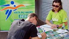 Sesi divulga Volta das Nações durante desfile da Independência do Brasil