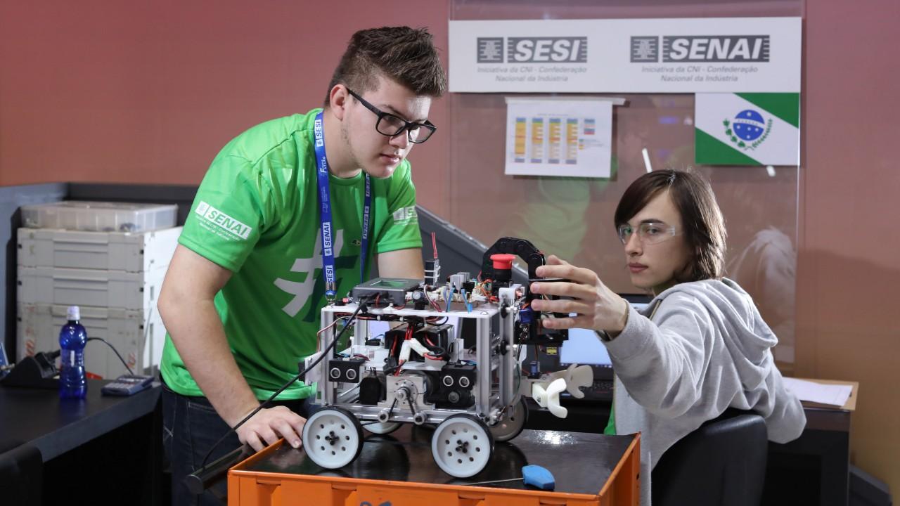 Olimpíada do Conhecimento é palco de seletiva de robótica para a WorldSkills 2019, em Kazan