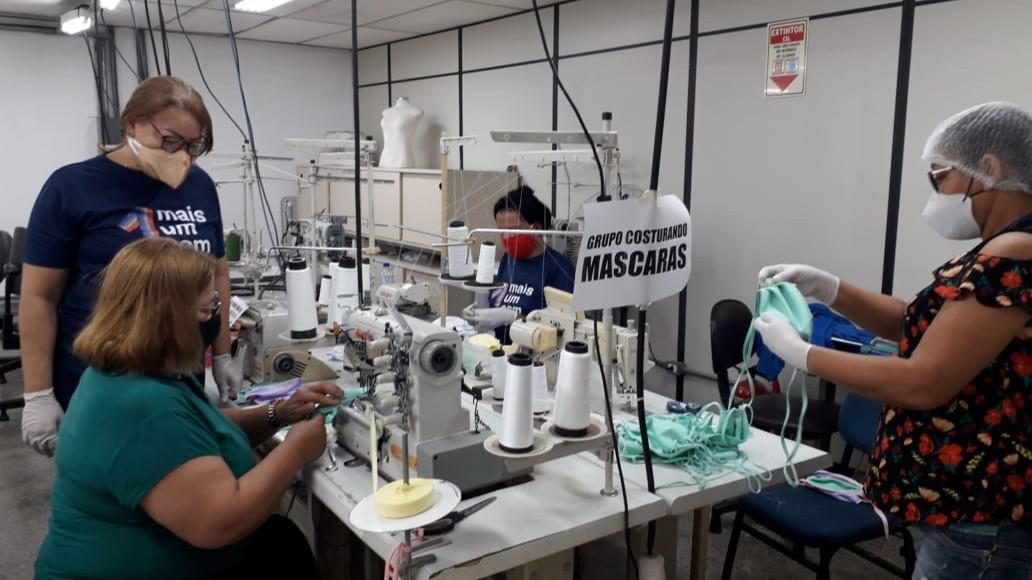 SENAI de Goiás e Ministério do Trabalho produzem EPIs para pessoas em vulnerabilidade social