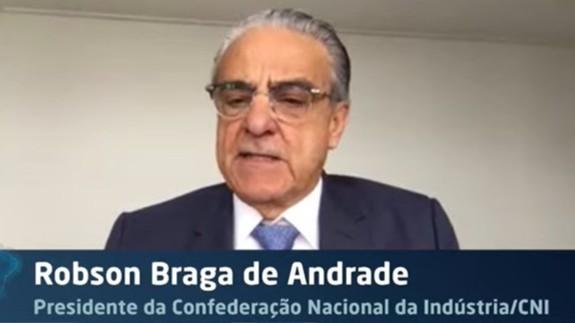 Segurança jurídica será essencial para retomada de investimentos, diz Robson Andrade